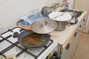 Dirty old kitchen